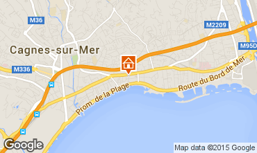 Map Cagnes sur Mer One-room apartment 98565