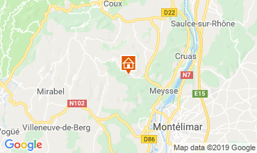 Map Vallon-Pont-D'Arc Vacation rental 119057