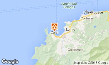 Map Calvi Apartment 42890
