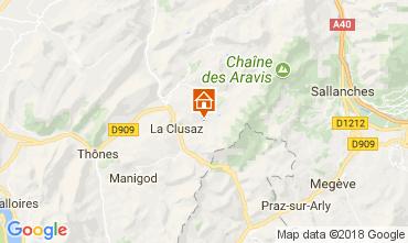 Map La Clusaz Apartment 73326