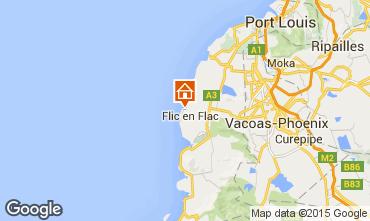 Map Flic-en-Flac Villa 21188