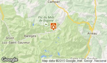 Map La Mongie Apartment 4328