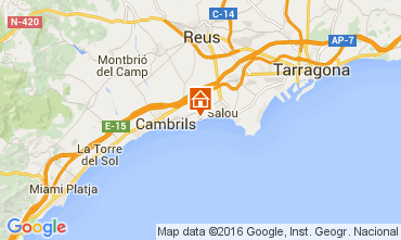 Map Salou Apartment 103589