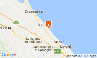 Map Bellaria Igea Marina Apartment 114507