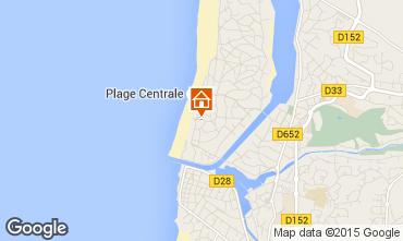 Map Hossegor Apartment 17405