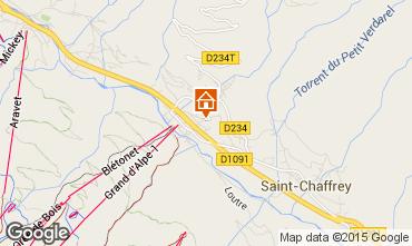 Map Serre Chevalier Chalet 2856