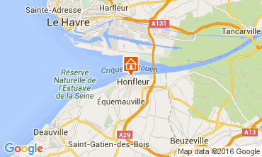 Map Honfleur Apartment 106122