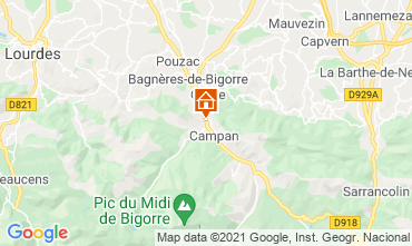 Map Luchon Superbagneres One-room apartment 80659