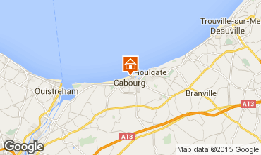 Map Cabourg Apartment 98323