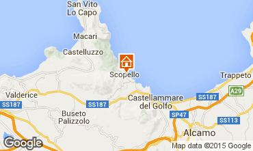 Map Scopello Apartment 44240