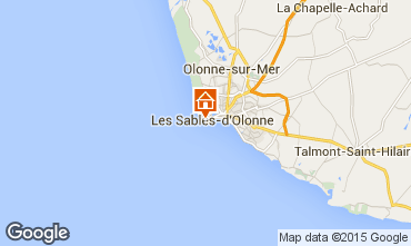 Map Les  Sables d'Olonne Apartment 70662