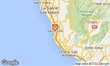 Map Saint Leu One-room apartment 73583