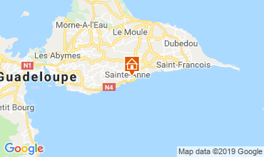 Map Sainte Anne (Guadeloupe) Bungalow 118496