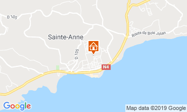 Map Sainte Anne (Guadeloupe) Bungalow 118496