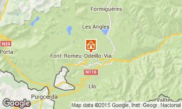 Map Bolquère Pyrenées 2000 Apartment 39144