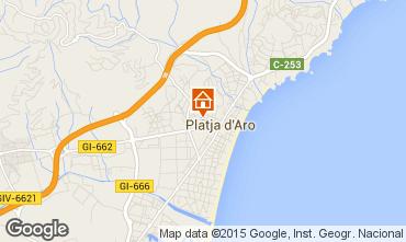 Map Playa d'Aro Apartment 87177