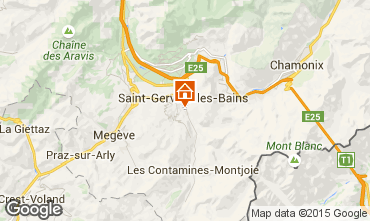 Map Saint Gervais Mont-Blanc Chalet 48749