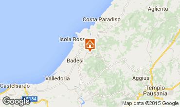 Map Trinità d'Agultu e Vignola Apartment 76423