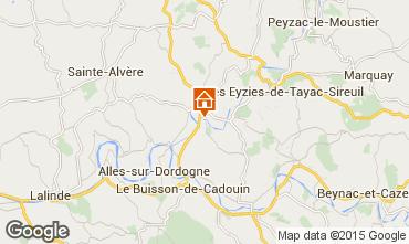 Map Le Bugue Vacation rental 84197