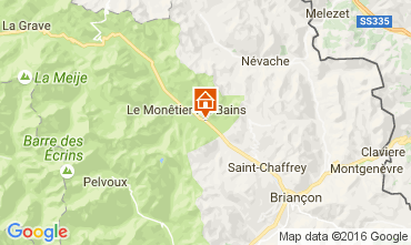 Map Serre Chevalier Apartment 2886