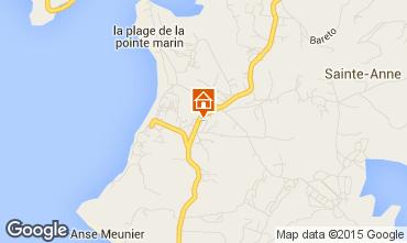 Map Sainte Anne (Martinique) Villa 8123