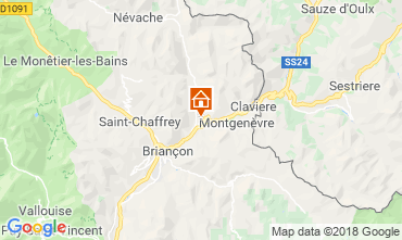 Map Montgenevre Apartment 97968