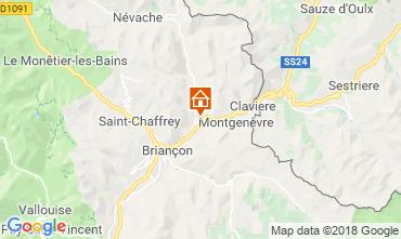 Map Montgenevre Apartment 97968