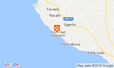 Map Ugento - Torre San Giovanni Apartment 94486
