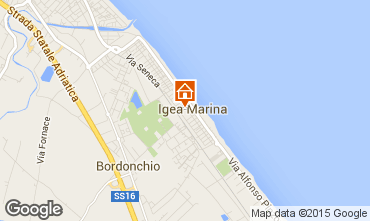 Map Bellaria Igea Marina Apartment 64492