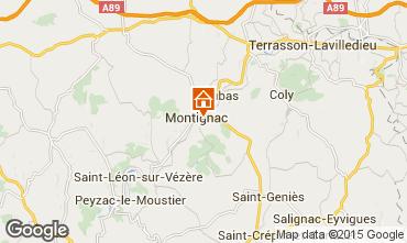 Map Montignac sur Vézère (Grottes de Lascaux) House 83435