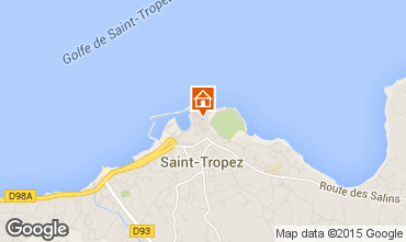 Map Saint Tropez One-room apartment 80076