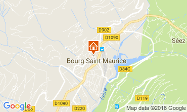 Map Bourg saint Maurice Apartment 286