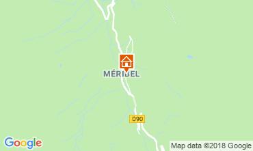 Map Méribel Apartment 116738
