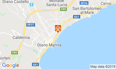 Map Diano Marina Apartment 50004