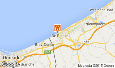 Map De Panne Apartment 32142