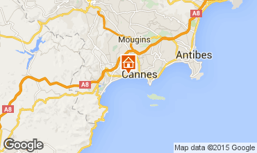 Map Cannes Apartment 80567