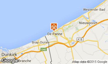Map De Panne Apartment 9556