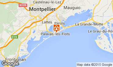 Map Palavas-les-Flots Apartment 83188