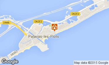 Map Palavas-les-Flots Apartment 83188