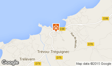 Map Perros-Guirec Apartment 94927