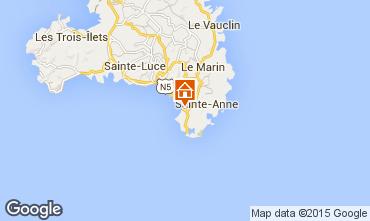 Map Sainte Anne (Martinique) Apartment 100996