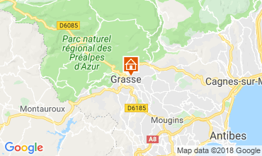Map Grasse Vacation rental 56131