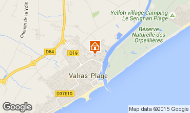 Map Valras-Plage Apartment 69389