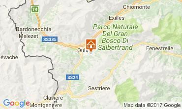 Map Sauze d'Oulx Apartment 74041
