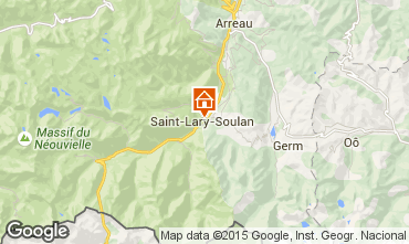 Map Saint Lary Soulan Apartment 90823