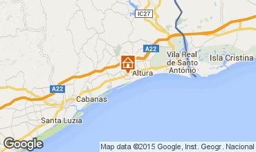 Map Monte Gordo Apartment 75935