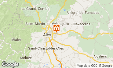 Map Alès Vacation rental 68431