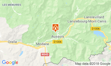 Map Aussois Chalet 91664