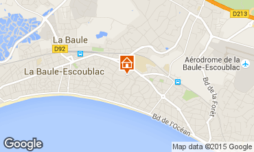 Map La Baule Apartment 34336