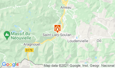Map Saint Lary Soulan Apartment 110668